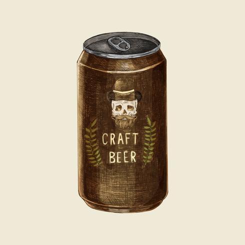 Ilustração de uma lata de cerveja artesanal
