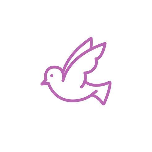Vita duvan som symboliserar fred illustration