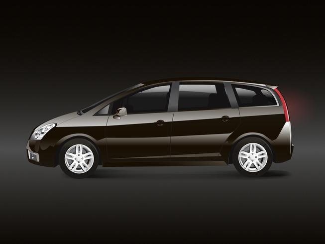 Vetor de automóvel monovolume marrom MPV