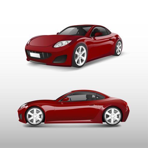 Röd sportbil isolerad på vit vektor