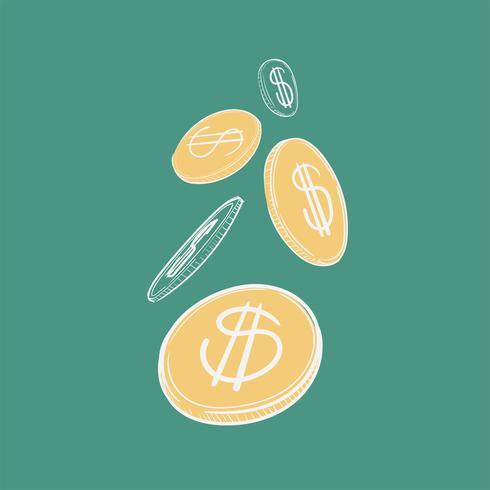 Main, dessin, illustration, finance, concet