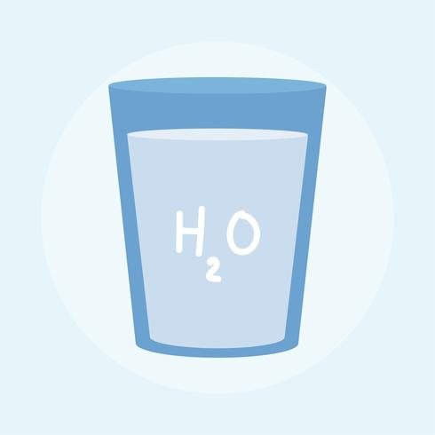 Illustration of a glass of drinking water