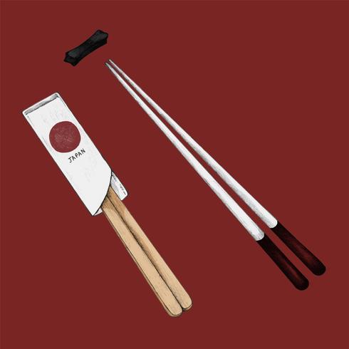 Ilustração, de, chopsticks