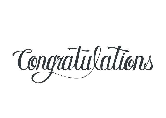 Parabéns palavra tipografia design ilustração vetor