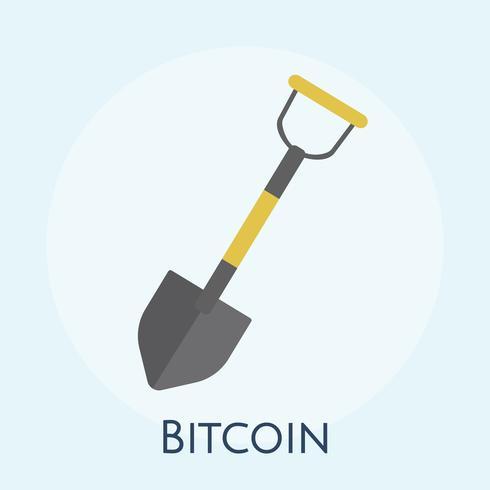 Illustratie van bitmining mining concept