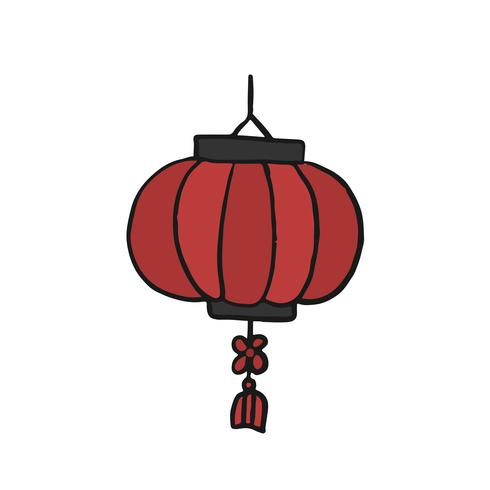 Chinese red paper lantern illustration