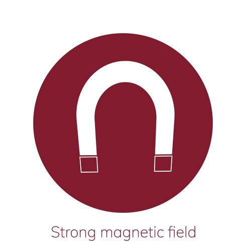 Illustrazione del forte segnale di avvertimento del campo magnetico