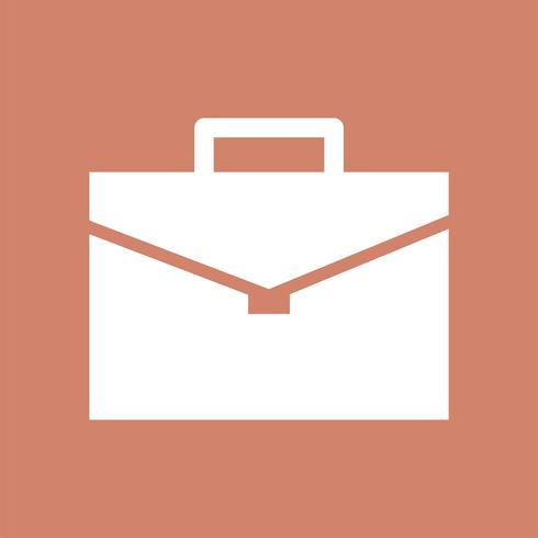 Briefcase icon on pink background