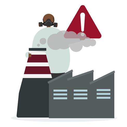 Fabriksluftförorening och faror