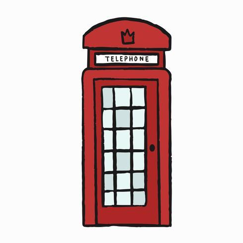 Illustrazione classica UK UK casella di telefono