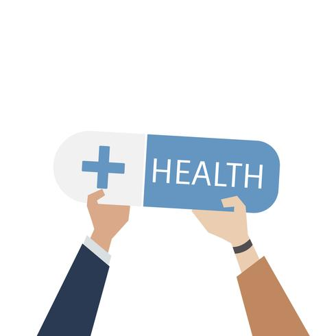 Illustration of healthcare service concept