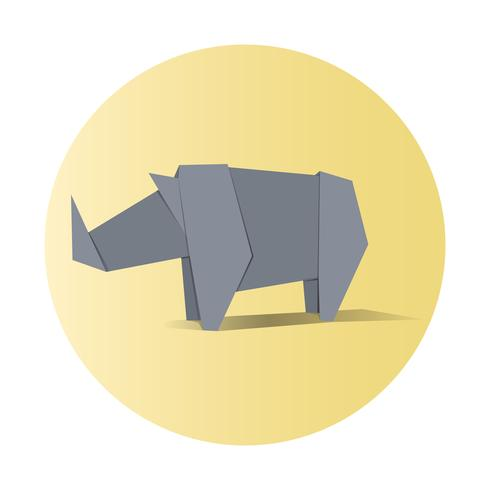 Animal origami vector