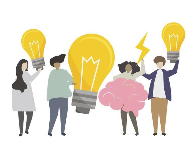 Ideen und Kreativitätskonzeptillustration