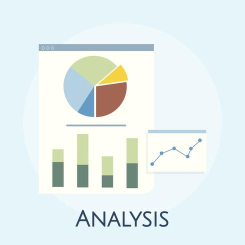 Illustration der Geschäftsdiagrammanalyse
