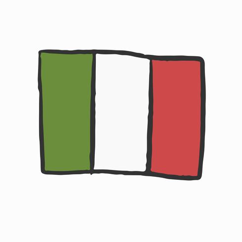 Hand drawn Flag of Italy