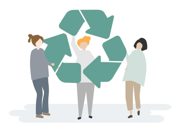 Umweltschutz und das Recycling-Symbol