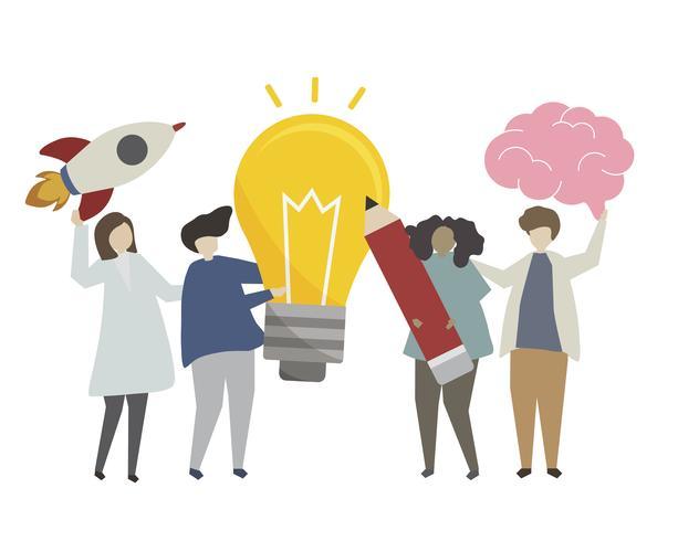 Kreative Geschäftsideenkonzeptillustration