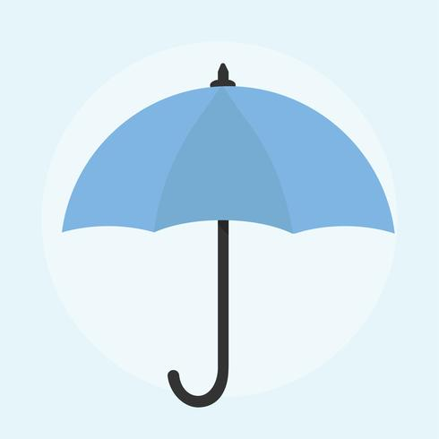 Illustration av ett paraply