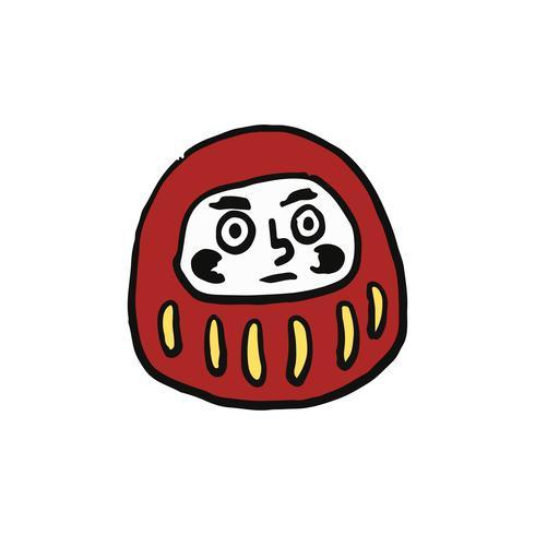The famous red daruma illustration