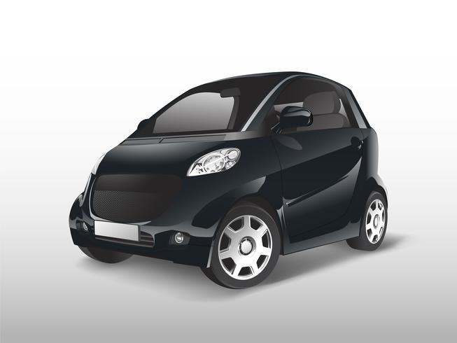 Schwarzer kompakter Hybridautovektor