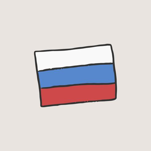 Le drapeau de la Russie illustration