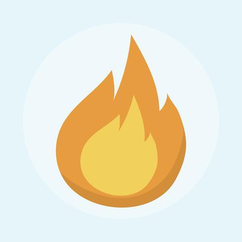 Ilustração de um fogo ardente