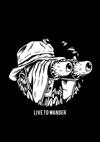 Live to wander creative illustration