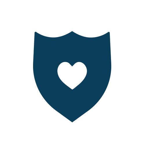 Health insurance shield icon illustration
