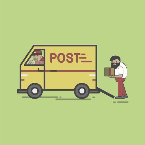 Illustrationsuppsättning efter leverans