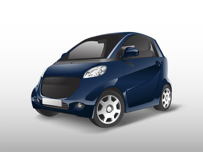 Vecteur de voiture hybride compacte bleue