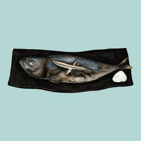 Abbildung des japanischen Fischgerichts