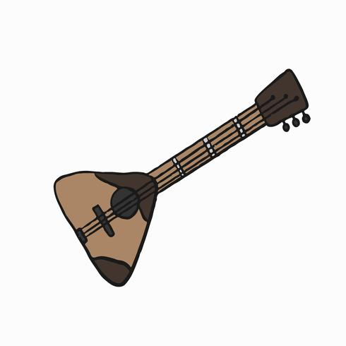 Traditionellt ryskt musikinstrument Balalaika illustration