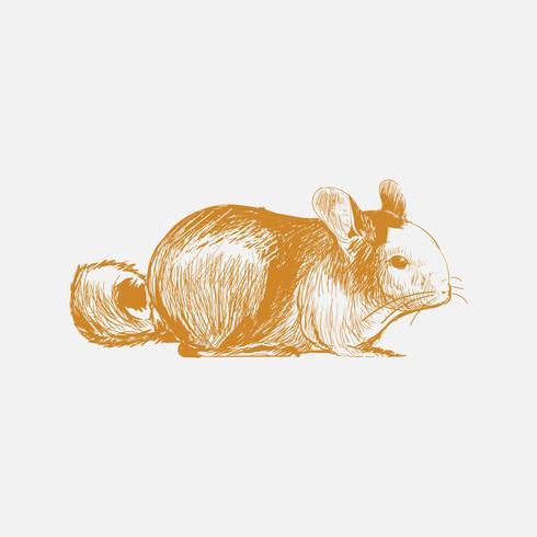 Stile di disegno illustrazione di ratto