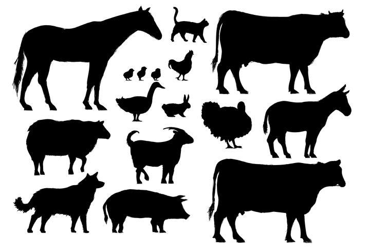 Style de dessin d'illustration de la collection d'animaux de ferme