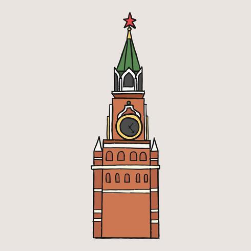 Illustration de la tour russe traditionnelle Spasskaya