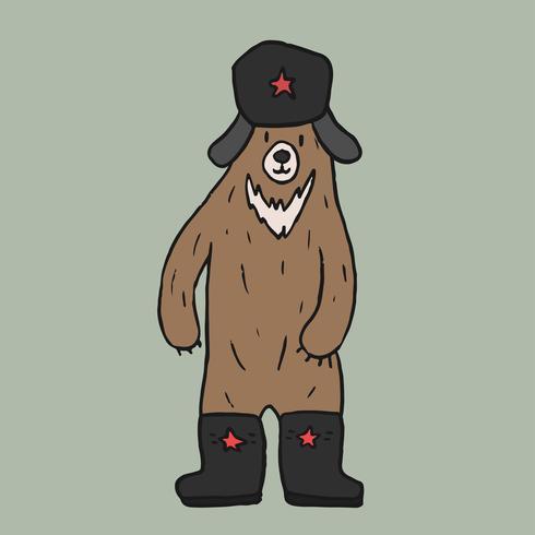 Soviet bear cartoon graphic illustration