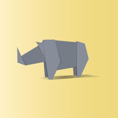 Tier-Origami-Vektor