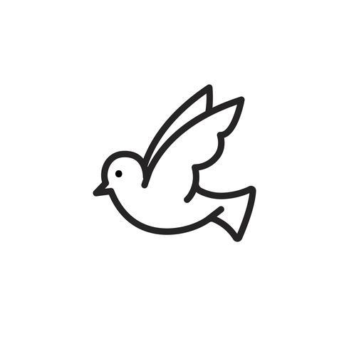 Colomba bianca che simboleggia l'illustrazione di pace
