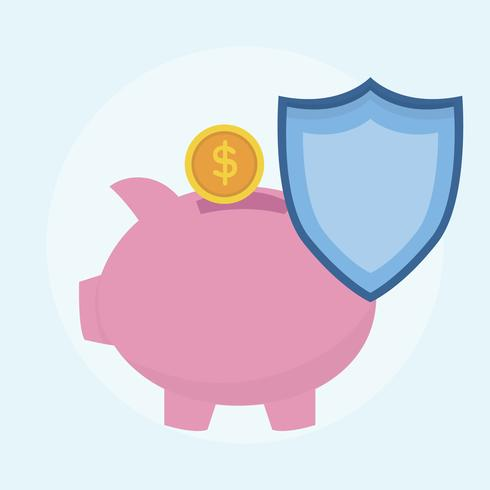 Illustration of money savings protection plan