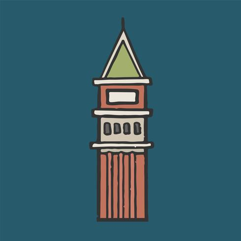 St Mark's Campanile graphic illustration