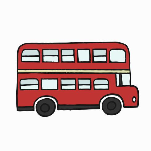 Illustration d'un bus rouge à deux étages à Londres