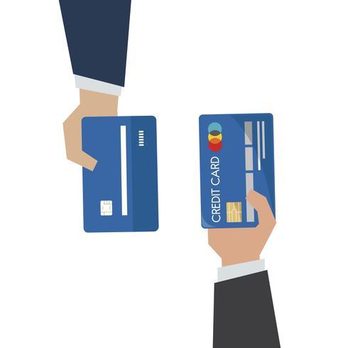 Illustration d'une main tenant une carte de crédit