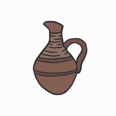 Ancienne urne égyptienne dessinée à la main