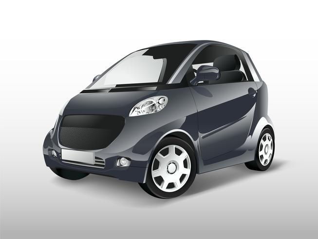 Gris compacto vector de coche híbrido