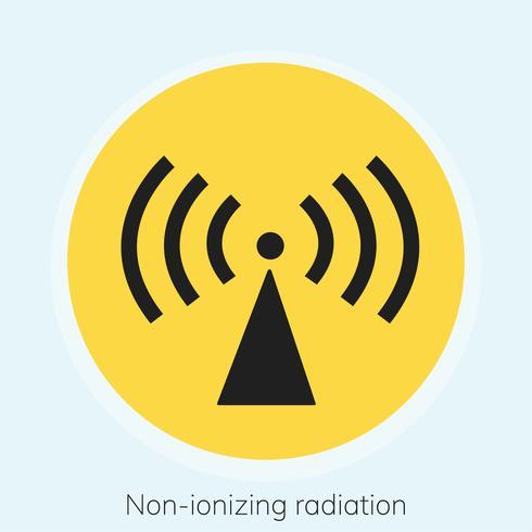 Illustration d'un panneau d'avertissement de rayonnement non ionisant