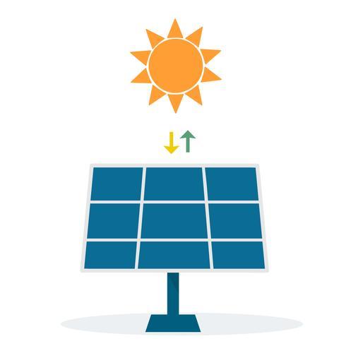 Illustrazione di energia alternativa di energia solare