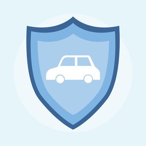 Illustration av en bilförsäkring ikon