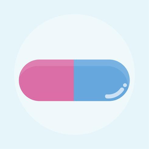 Färgglada piller och medicin illustration