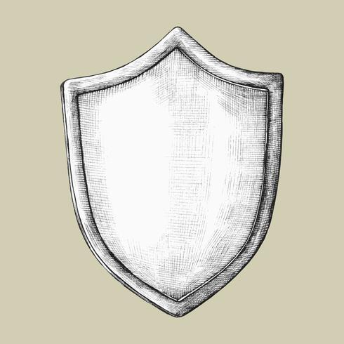 Illustration de bouclier dessiné à la main