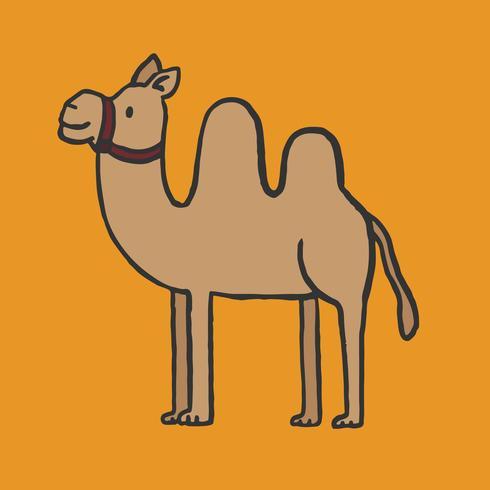 Dibujado a mano ilustración camello
